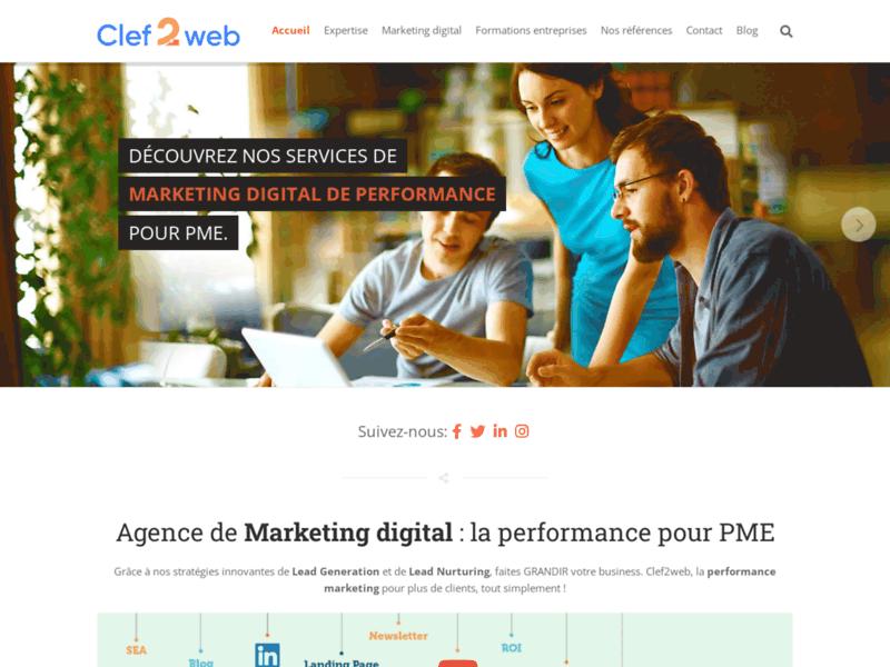 Clef2web : votre agence webmarketing en Belgique