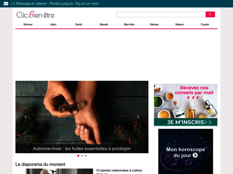 Clic bien-être : magazine féminin online