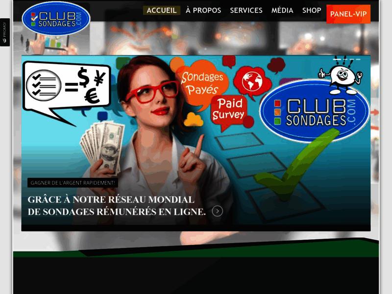 Club Sondages : Gagner de l'argent avec des sondages