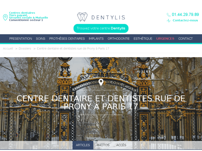 Centre médical et dentaire Prony à Paris