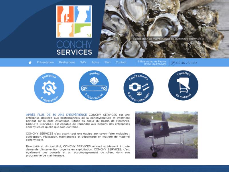 Conchy Services, entretien et dépannage de matériel conchylicole sur toute la France