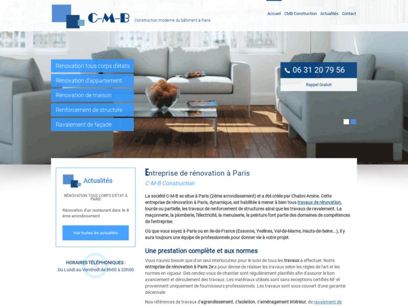 Société de rénovation d'appartements, Paris