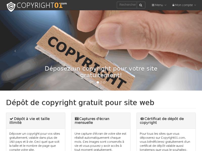 Dépôt de copyright pour site web