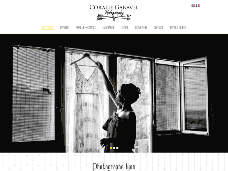 Screenshot du site : Coralie Garavel photographe à Lyon
