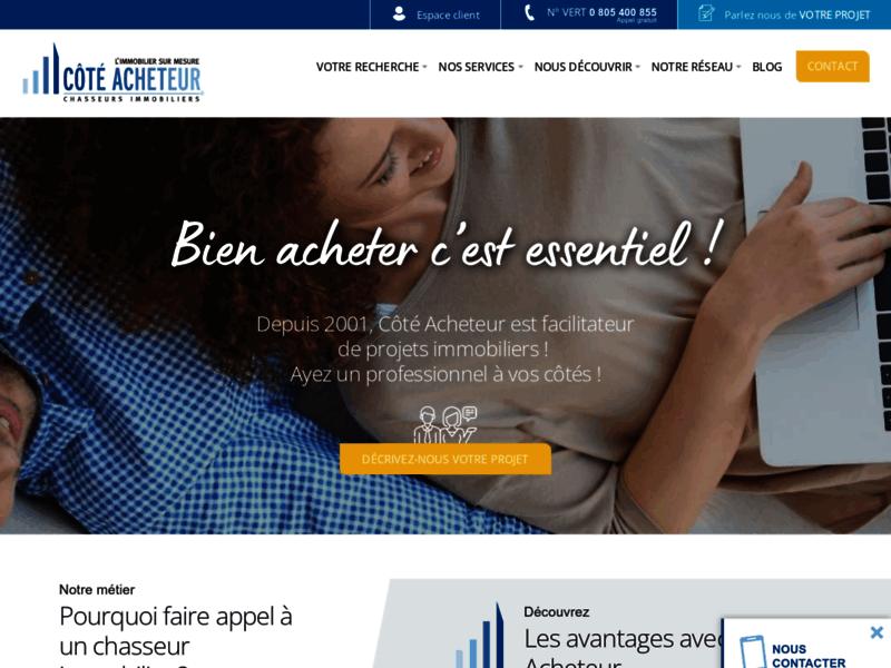 Côté Acheteur, chasseur immobilier sur toute la France