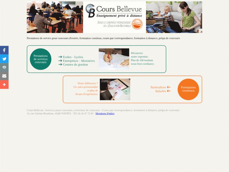 Cours Bellevue : Prestations de services pour concours