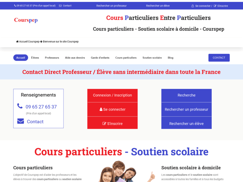 Cours particuliers entre particuliers - Courspep.fr