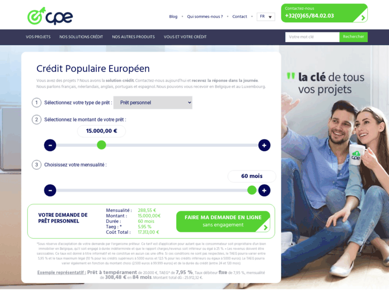 CPE, tout pour le financement de vos projets en Belgique et au Luxembourg