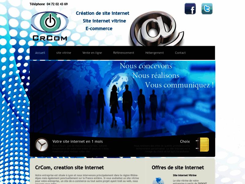 CrCom : Réalisation et référencement de sites internet