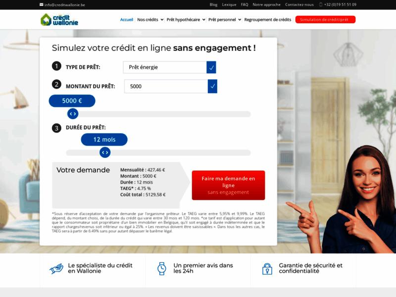 Crédit Wallonie - Prêt hypothécaire, refinancement