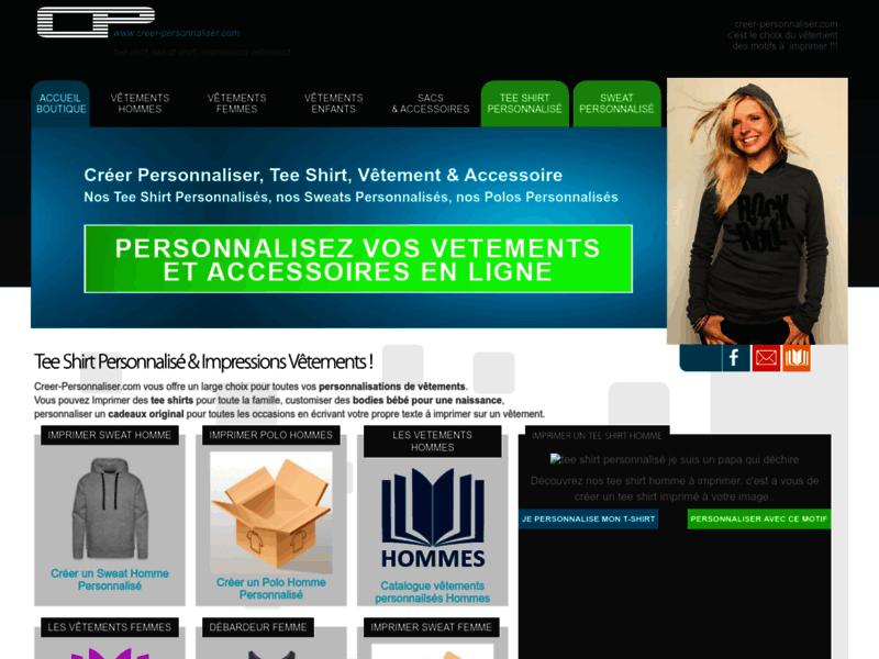 Creer-personnaliser : T-Shirts imprimés