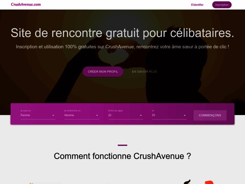 CrushAvenue, le site de rencontre gratuit pour célibataires
