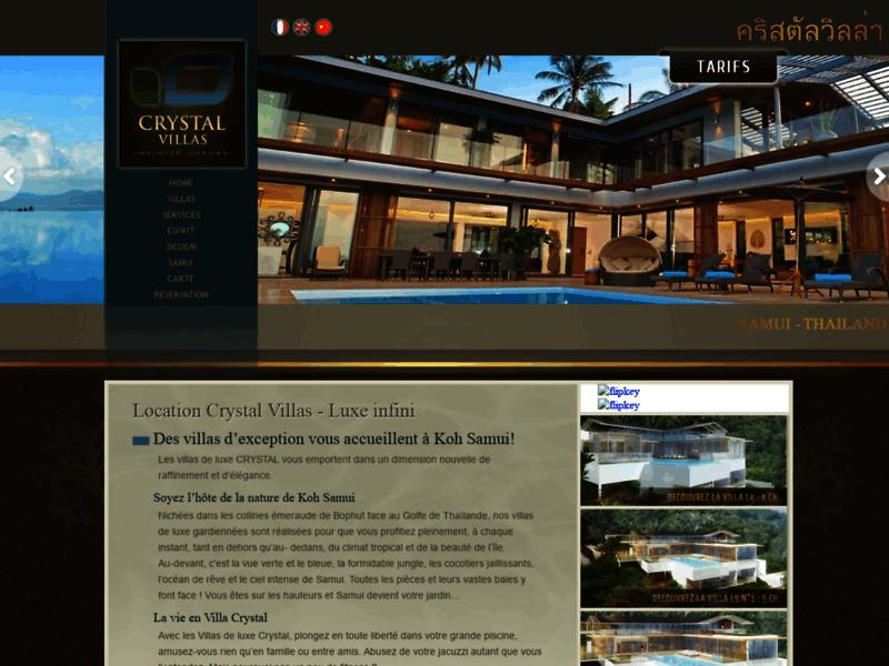 Crystal Villas, villas haut de gamme à Koh Samui en Thaïlande