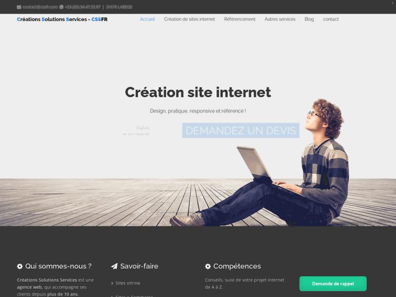 Créations Solutions Services, création de sites internet à Toulouse