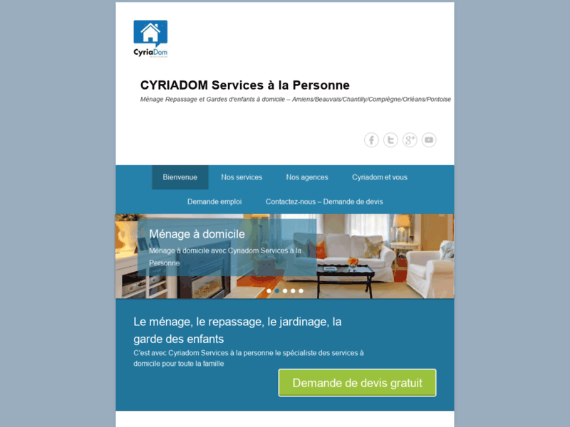 Cyriadom : Service à la personne