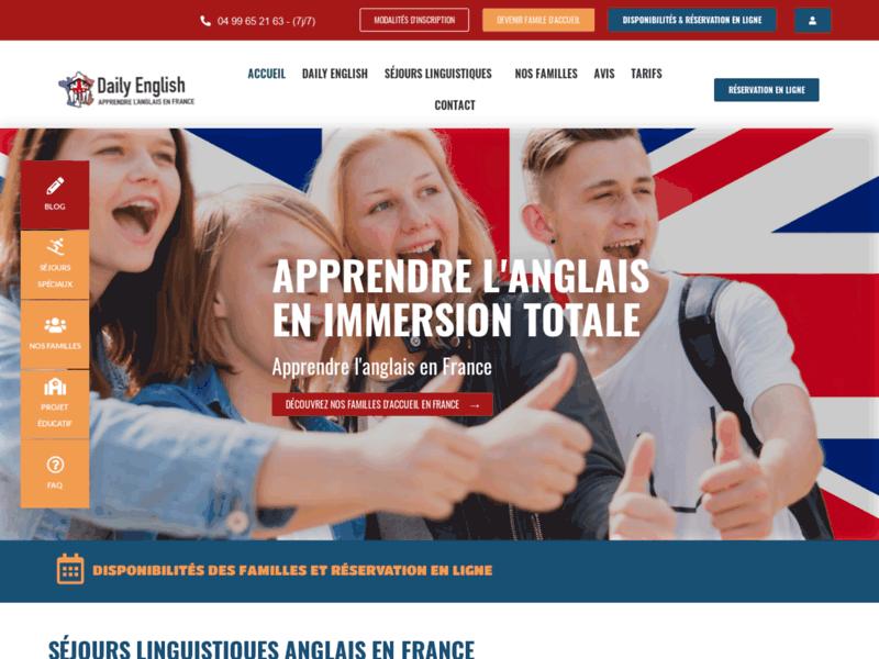 Séjour d'immersion en anglais