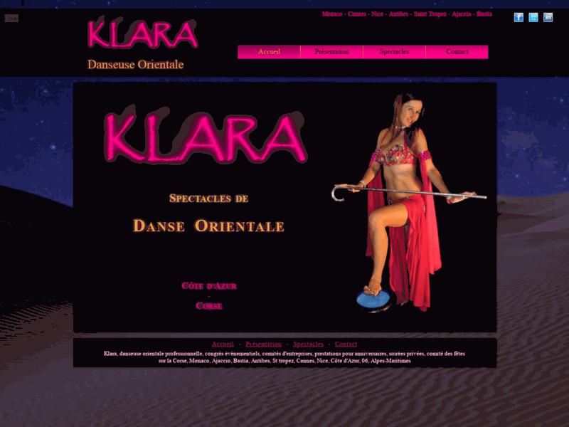 Klara Danseuse Orientale Côte d'Azur