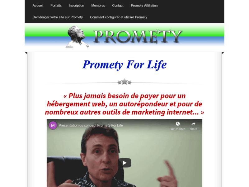Logiciel Promety pour réaliser votre site