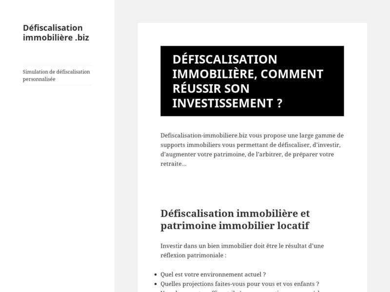 Défiscalisation immobilière : simulation de réduction d'impôts personnalisée