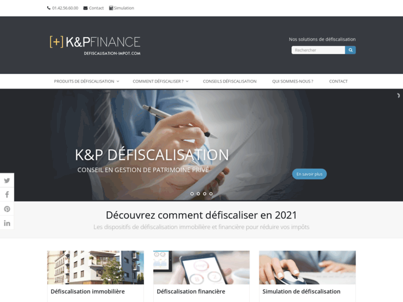 K&P Défiscalisation, simulation de défiscalisation pour réduire vos impôts