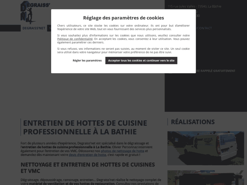 Service aux restaurateurs : Degraiss'net