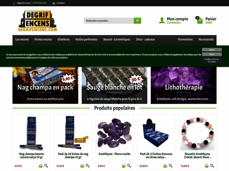 Encens discount en ligne : plus de 360 fragrances de qualité.
