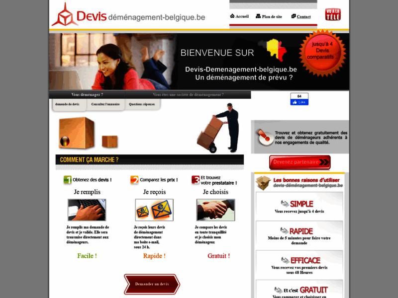 Devis déménagement en Belgique