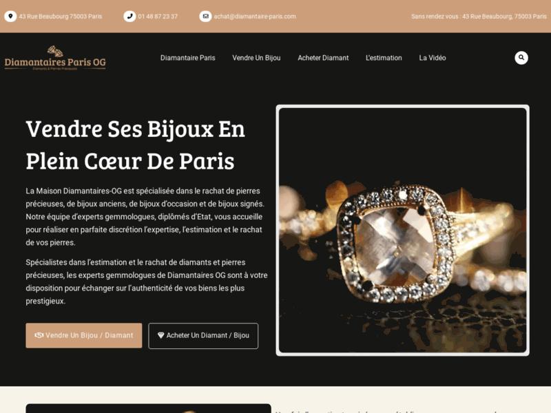Diamantaires OG : vente et achat de diamants et de bijoux anciens à Paris