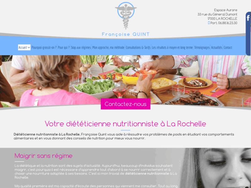 Maigrir durablement et sans régime avec Françoise Quint, à La Rochelle
