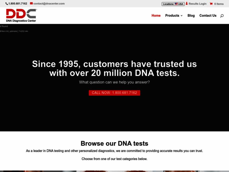 DNA Diagnostics Center, test de paternité