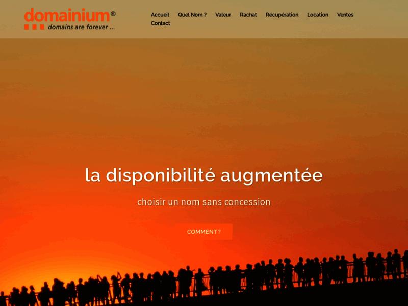 Catalogue Domainium.fr