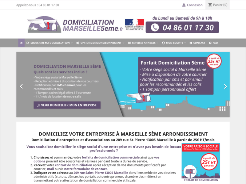 Domiciliation Marseille 5eme