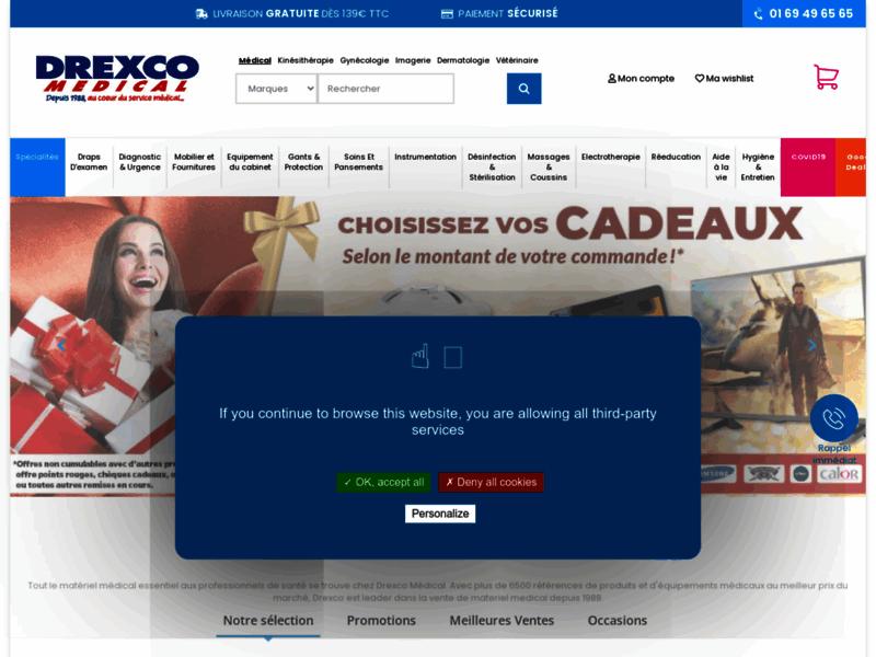 Drexco Médical, vente par correspondance de matériel médical à prix réduit