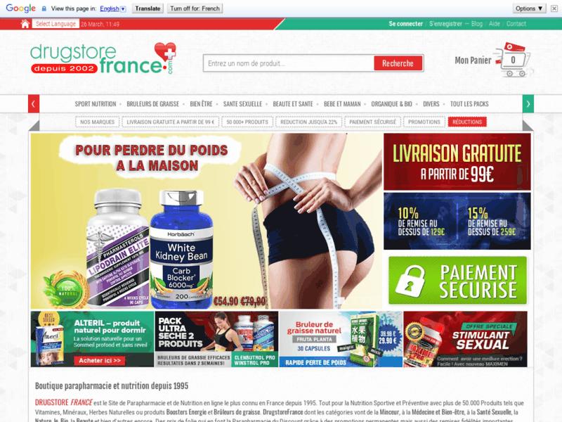 DrugstoreFrance.com parapharmacie en ligne