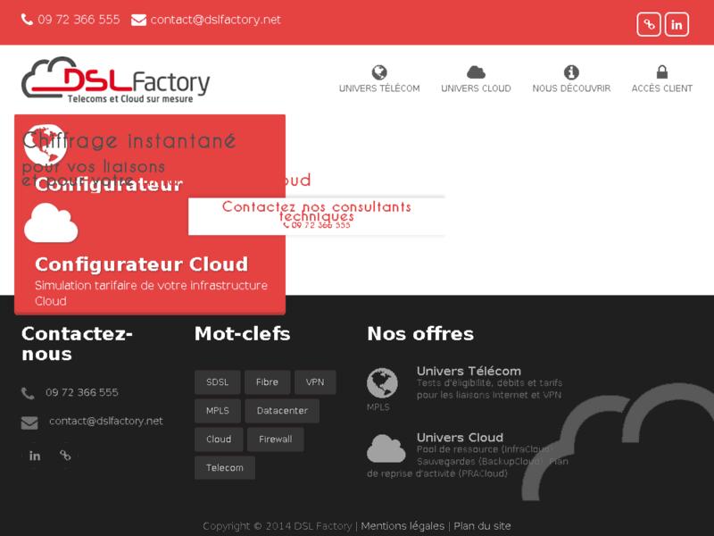 DSL Factory : Solutions Cloud et Télécoms pour l'entreprise