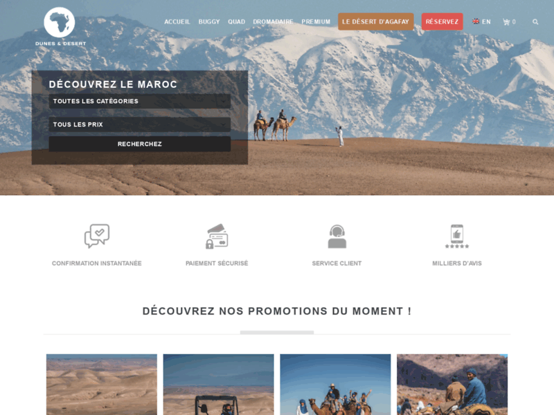 Dunes Desert : voyage sud maroc