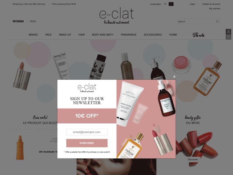 E-clat : produits de beauté
