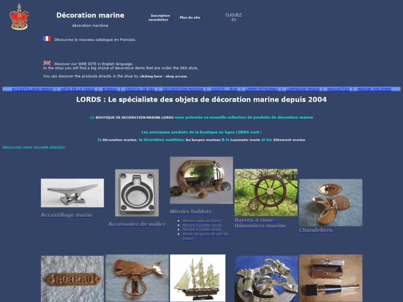 Décoration marine, Vêtements marins