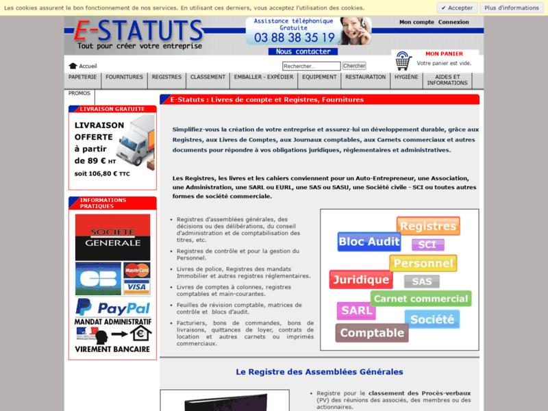 E-Statuts : guide interactif pour la création d'entreprise