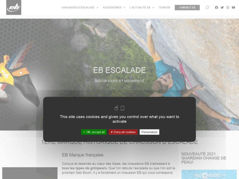 Chaussons pour l'escalade EB