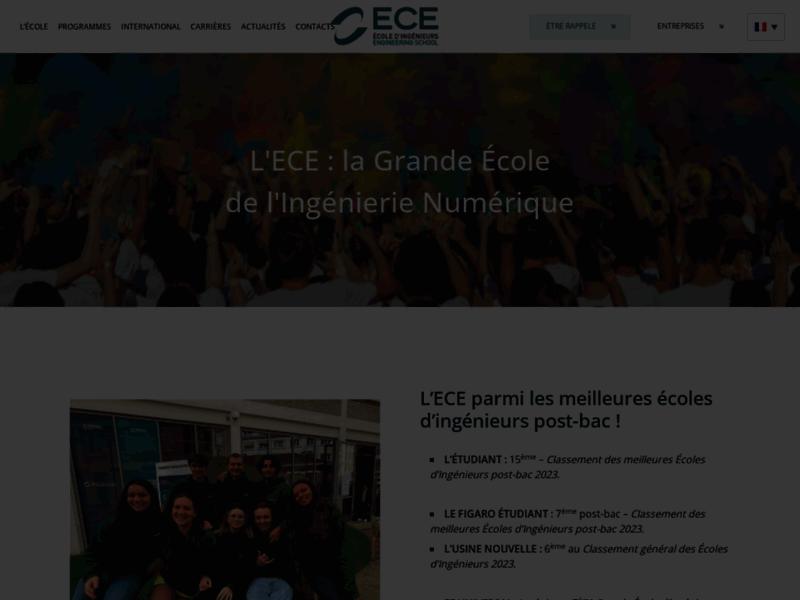 ECE : Ecole d'ingénieur à Paris