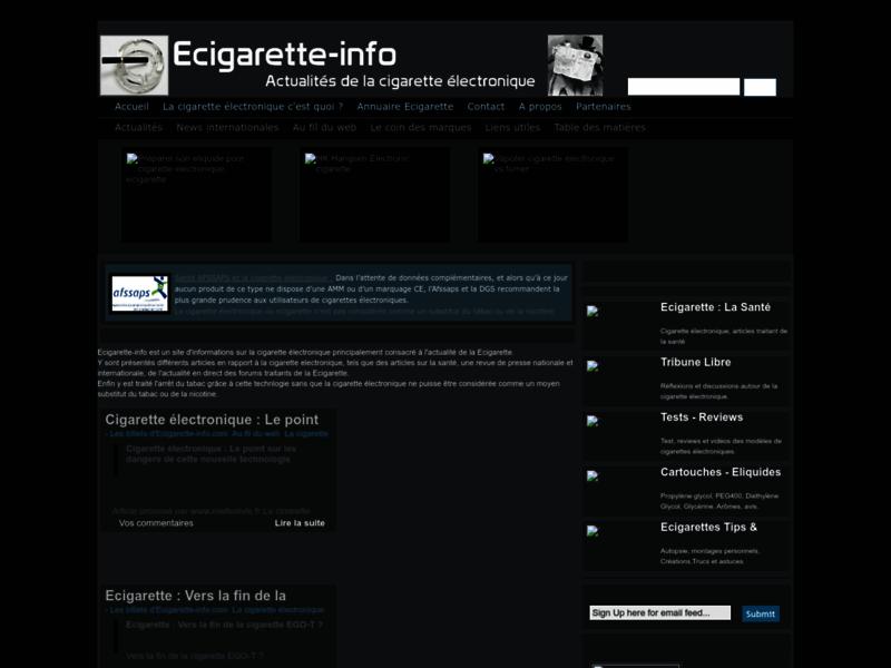 La cigarette electronique : Ecigarette-info