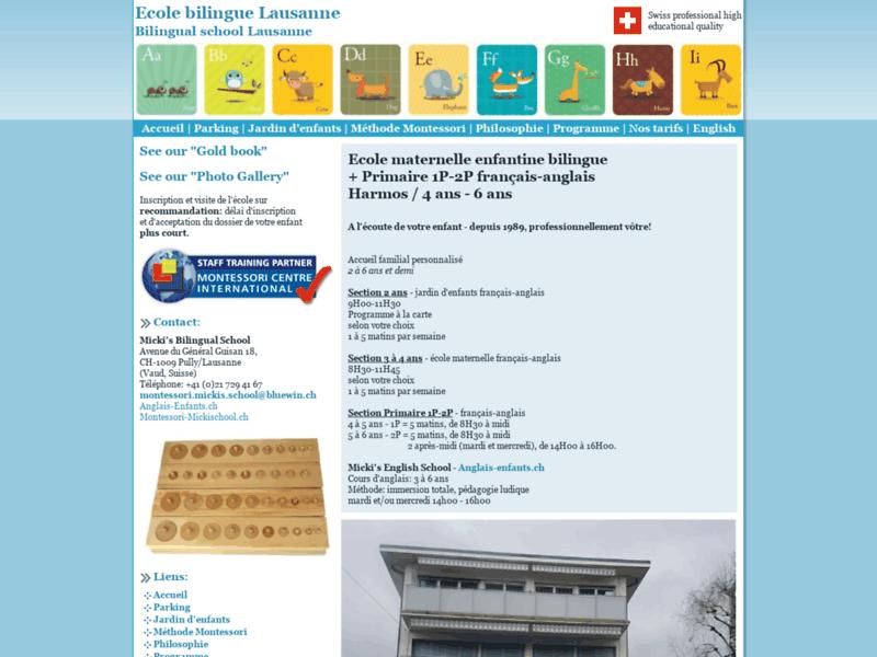 Ecole élémentaire bilingue, Lausanne (Suisse)