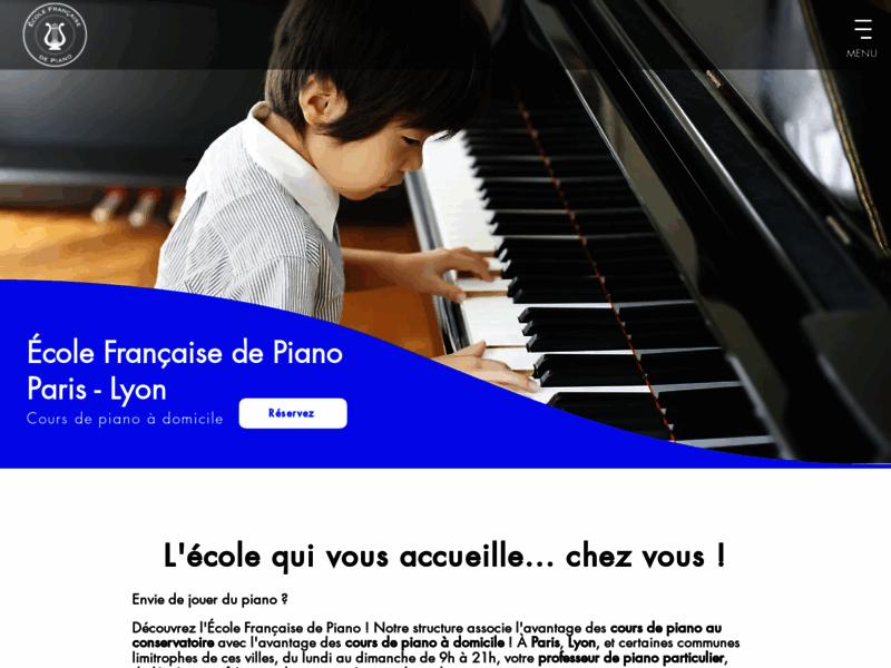 École Française de Piano, cours de piano à domicile