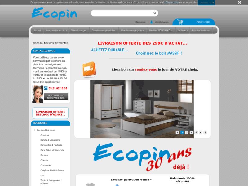 ECOPIN - Meubles en pin - accueil
