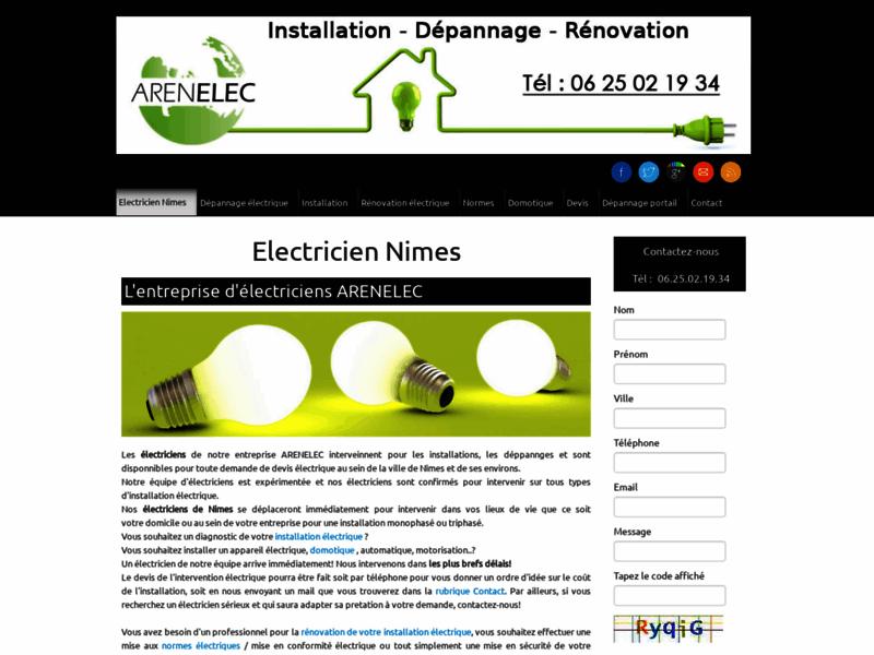 Electricien Nimes, dépannage électrique à Nimes