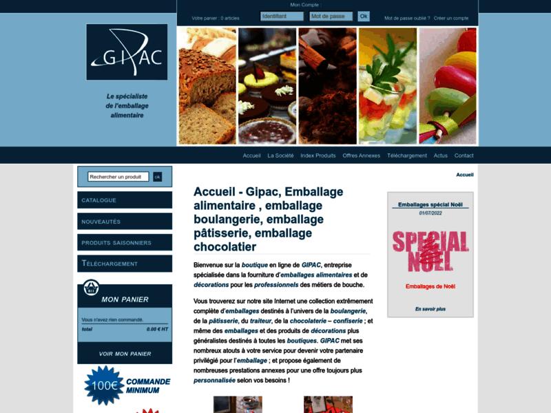 GIPAC, la boutique en ligne pour les emballages alimentaires