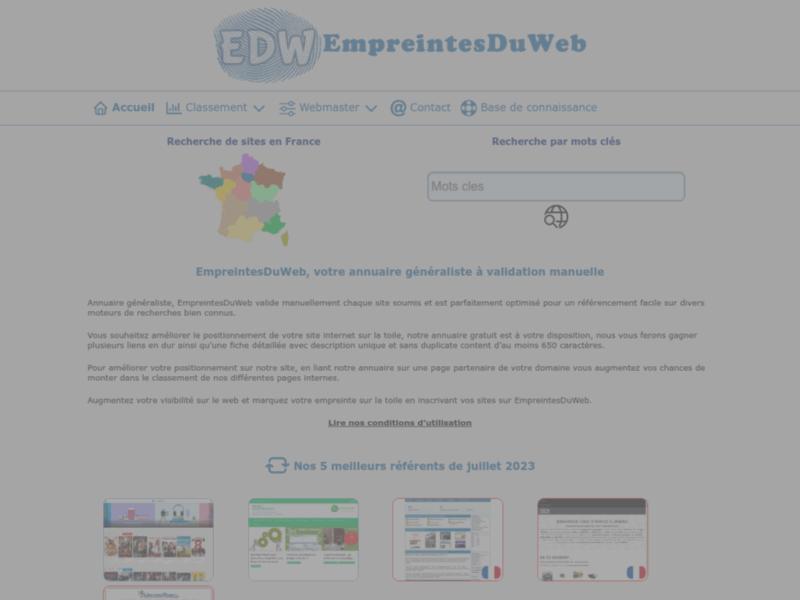 Empreintes Du Web, annuaire généraliste gratuit