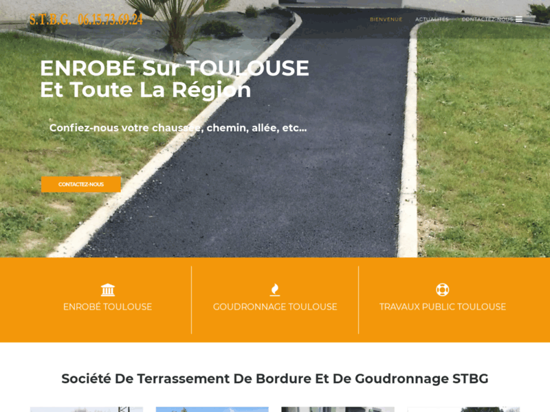 Screenshot du site : Enrobé Toulouse