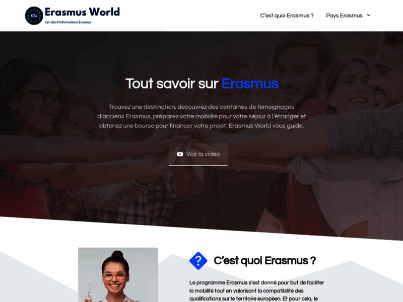 Erasmus World, informations sur le programme Erasmus